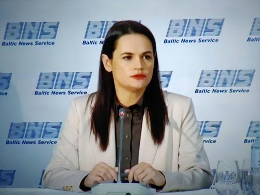 Swetlana Tichanowskaja forderte freie Wahlen und eine unabhängige Zukunft von Belarus.