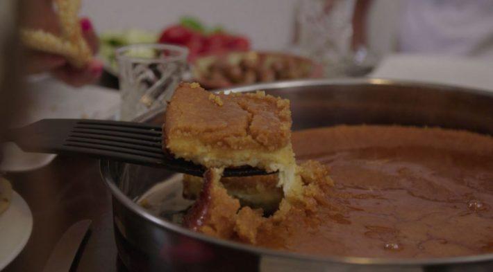 Knefeh - Grießkuchen mit Käsefüllung aus dem Libanon