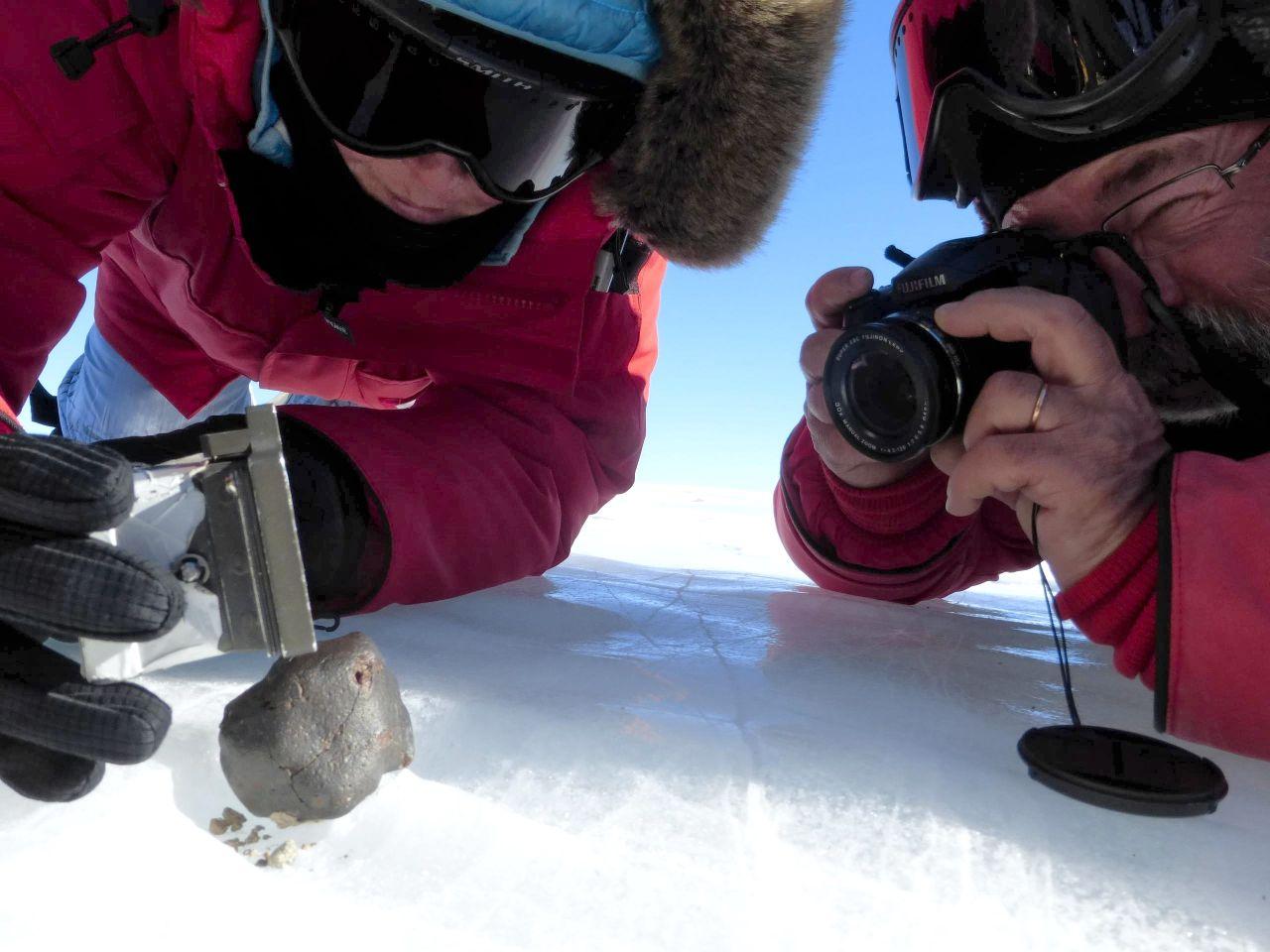 Meteoriten-Fund in der Antarktis