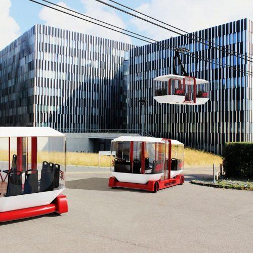 Der up-Bus könnte das Verkehrsmittel von morgen sein.