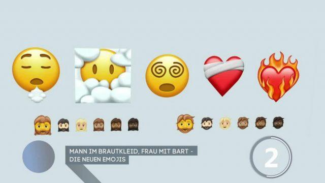 Mann im Brautkleid, Frau mit Bart: Das sind die neuen Emojis