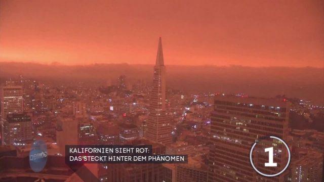 Roter Himmel über Kalifornien - das steckt dahinter