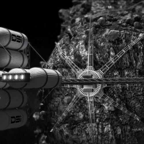 Space Mining: So stellte sich die US-Firma Deep Space Industries Asteroid-Bergbau vor.