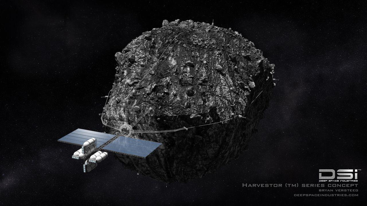 Erntemaschine für Weltraumbergbau