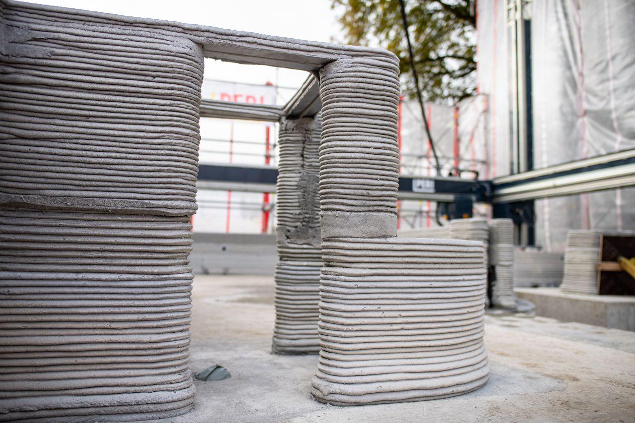 Druckerschichten 3D-Haus