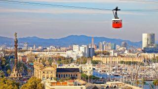 Die Hafenseilbahn von Barcelona legt stolze 1.300 Meter zurück