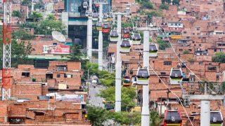 In Medellin nutzen täglich rund 30.000 Menschen die Seilbahnen