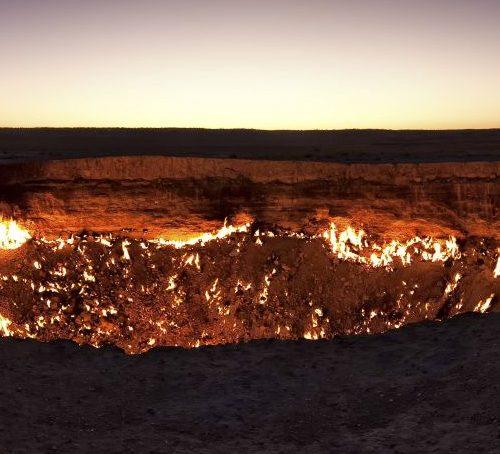 Krater von Derweze in Turkmenistan