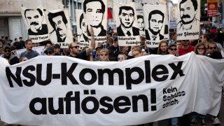 Demonstration gegen die NSU-Gruppierung