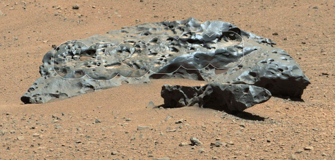Metall-Metorit auf dem Mars