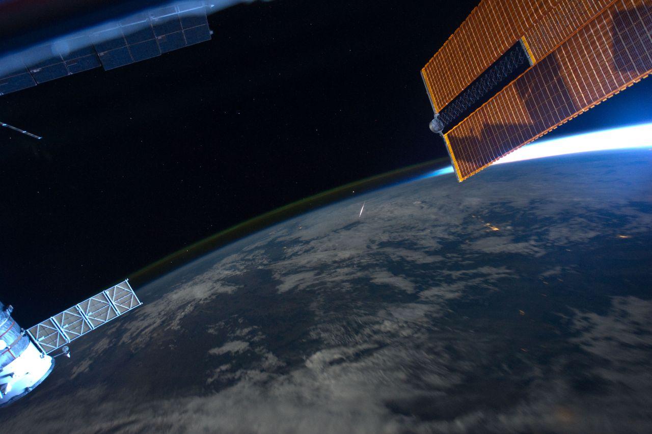 NASA_Meteor von der ISS aus gesehen