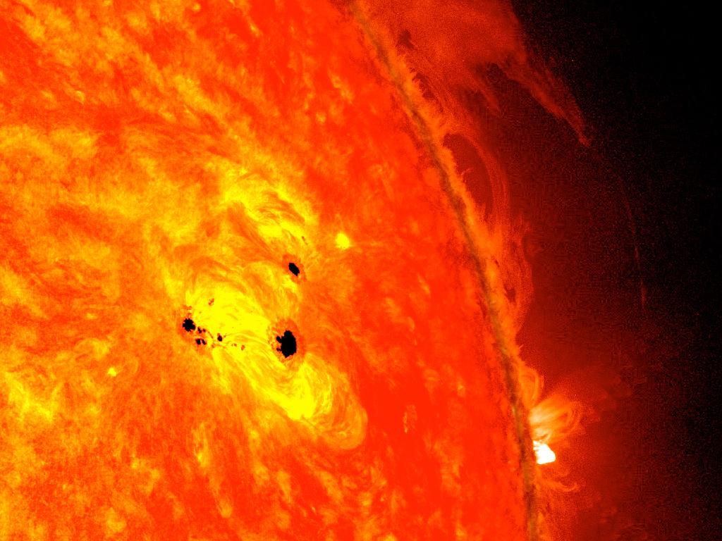Sonnenfleck auf der Sonnenoberfläche