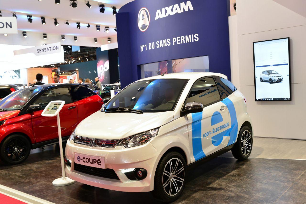Aixam Citypack auf eine Automesse