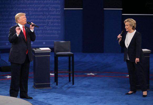 Donald Trump und Hillary Clinton beim TV Duell