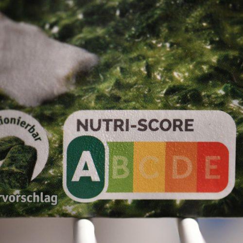 Nutri-Score: Deutschlandweit wird das Label ab November 2020 eingeführt. Hier auf einer Packung Rahmspinat.