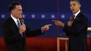 Barack Obama und Herausforderer Mitt Romney