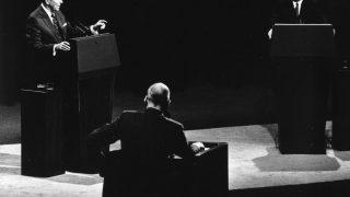Ronald Reagan und Walter Mondale im TV Duell