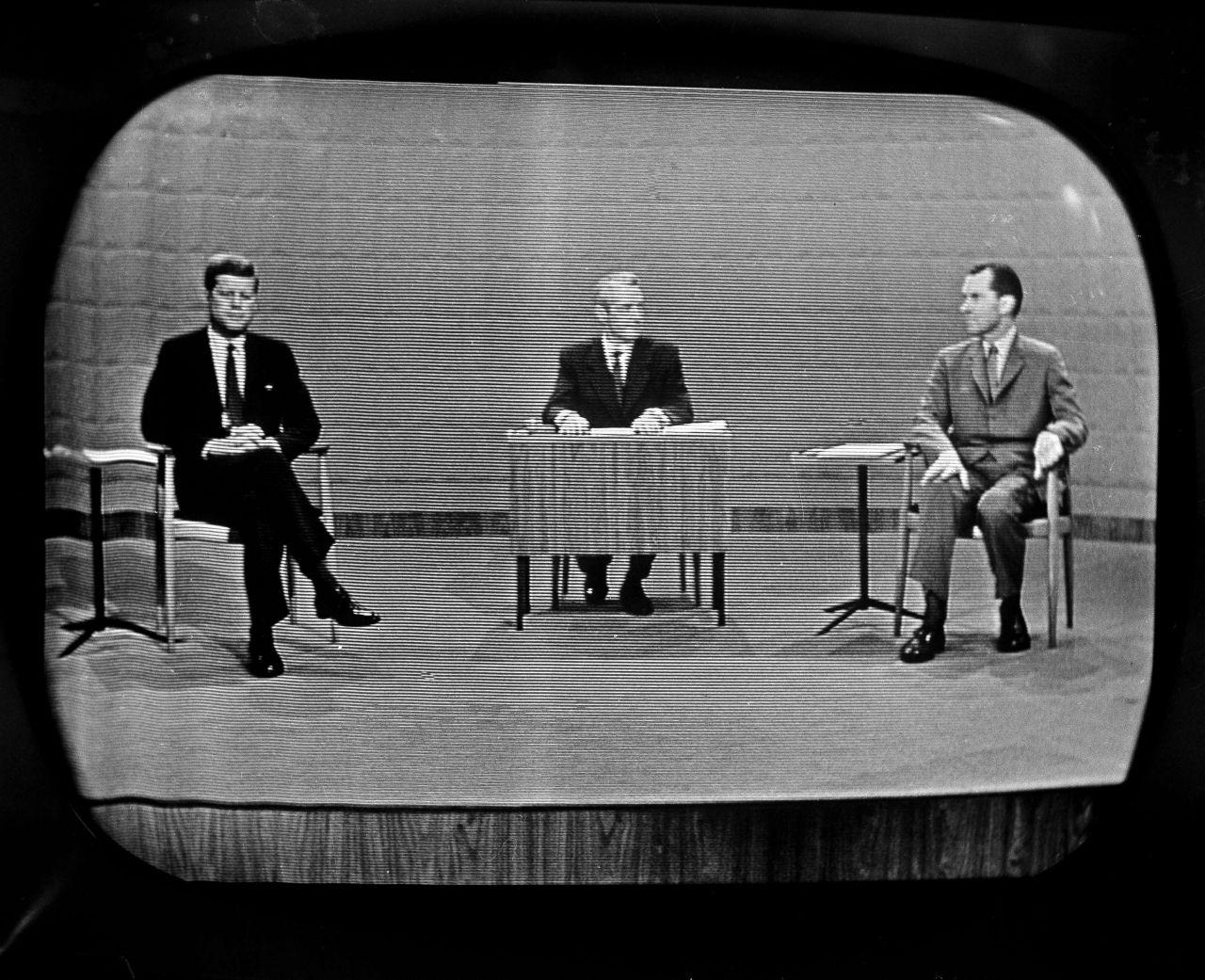 John F. Kennedy und Richard Nixon TV Duell