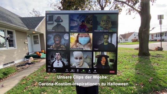 Clips der Woche: Halloween-Kostüme im Corona-Jahr und Home-Office im Riesenrad