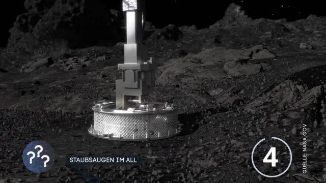 Nasa-Sonde saugt Staubpartikel eines Asteroiden
