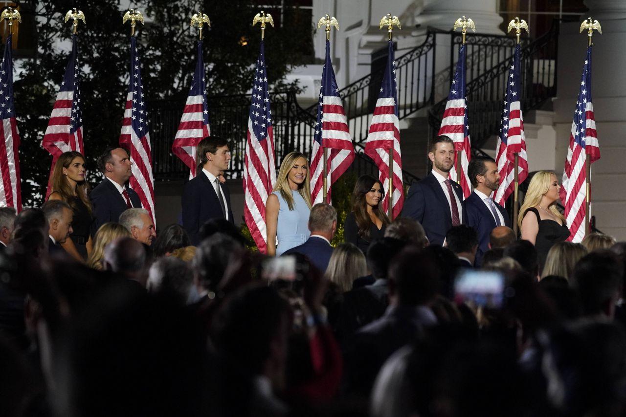 Donald Trump wird von seinen Kindern unterstützt