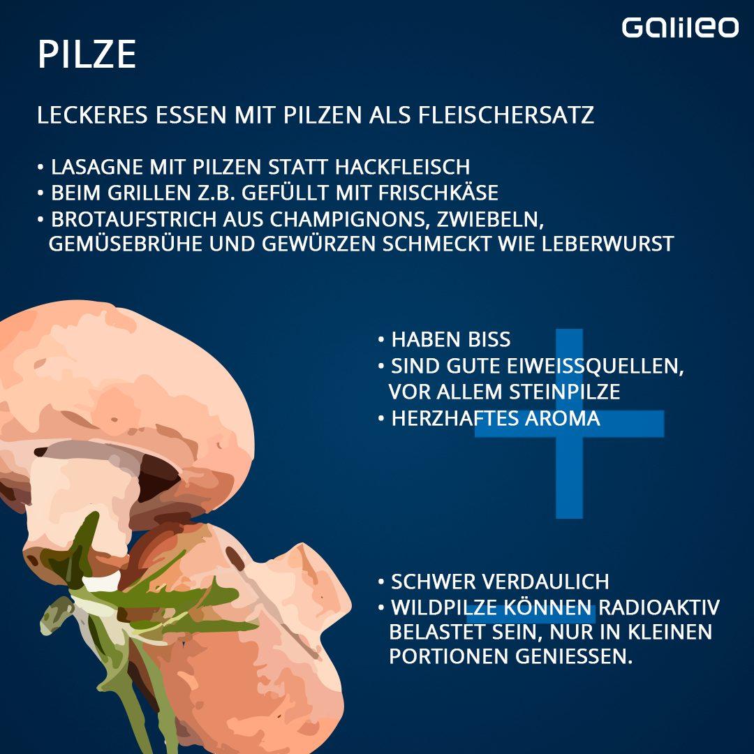 Pilze als Fleischersatz