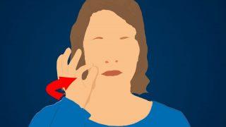 """Die Gebärde für """"gut"""" formst du mit deinem Zeigefinger und deinem Daumen."""