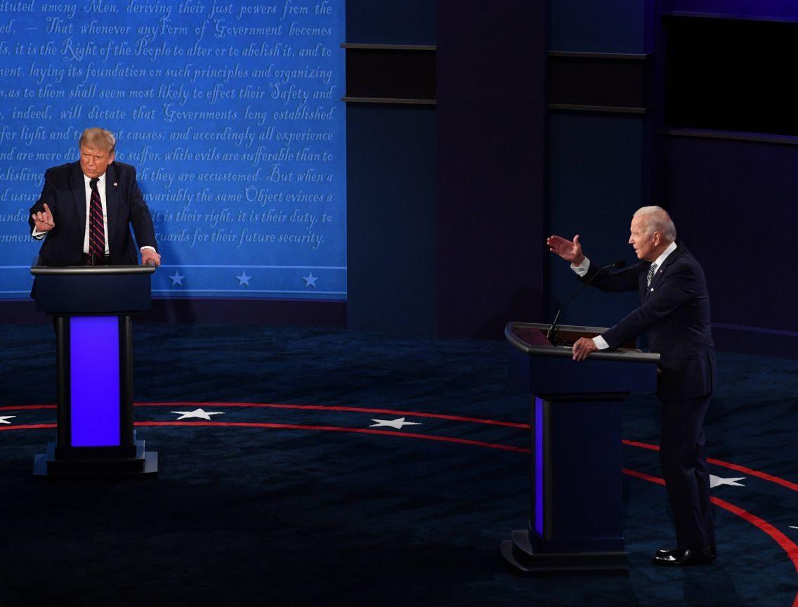 Donald Trump und Joe Biden im TV Duell