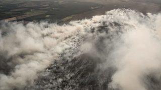 Der Moorbrand auf einem Bundeswehr-Testgelände 2018 von oben