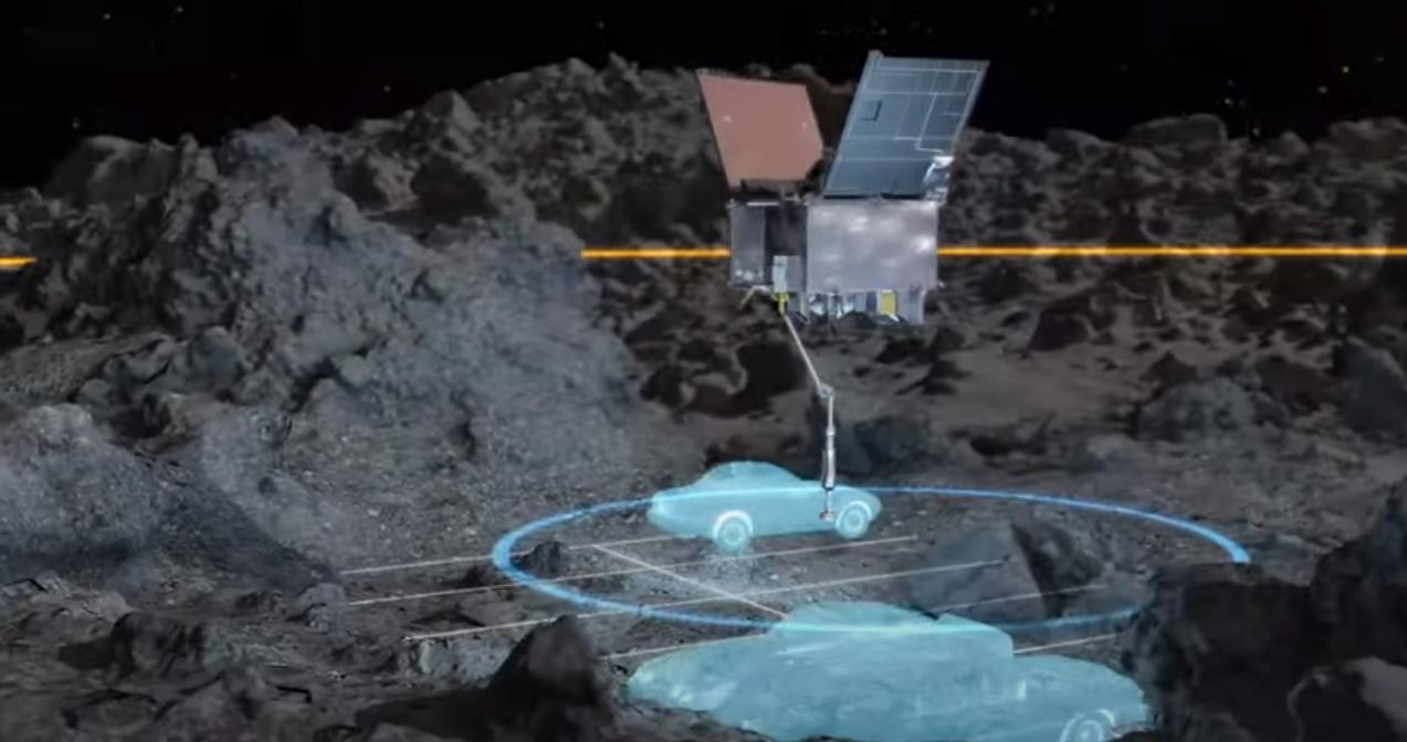 Landeplatz der Sonde im Größenmaßstab