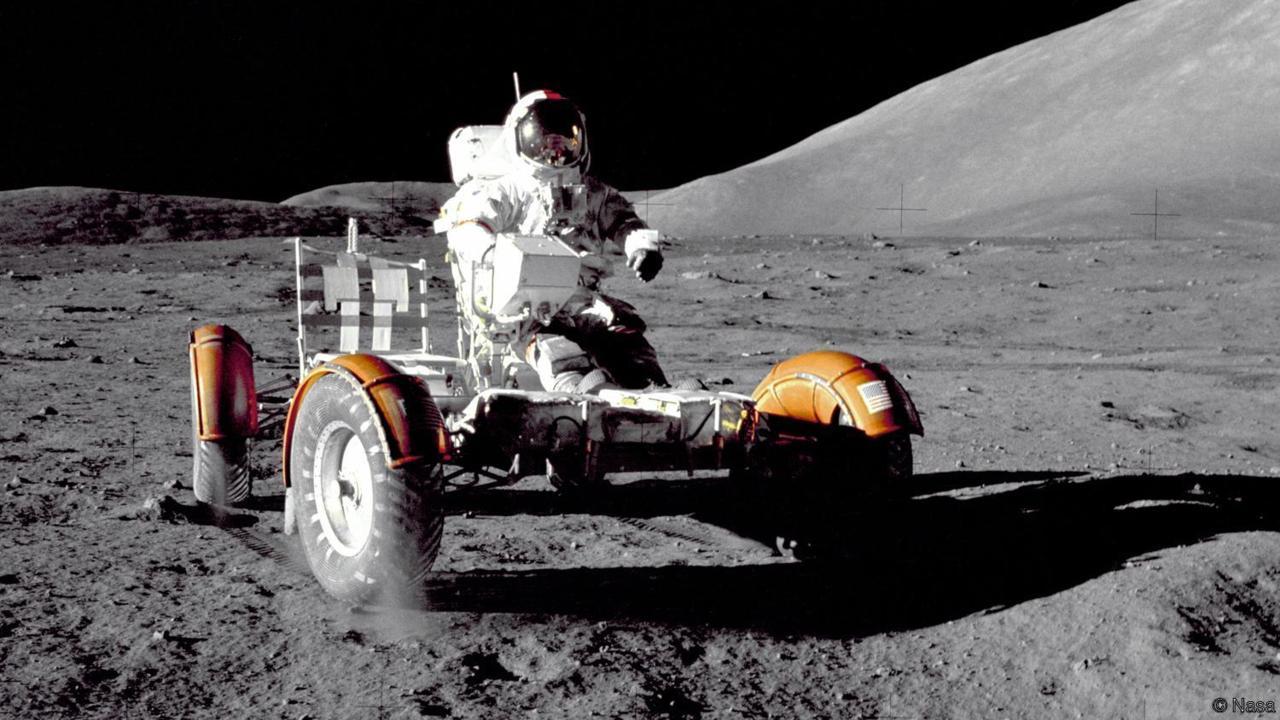 Mondauto während der Apollo-17-Mission