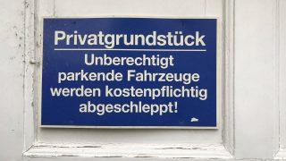 Parkverbot auf dem Privatgrundstück