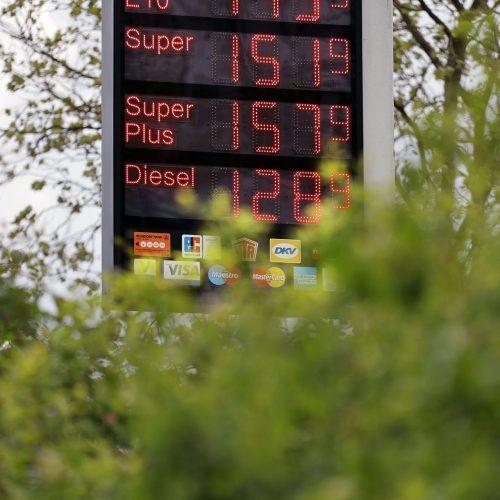 Tank-Anzeige mit Sprit-Preisen