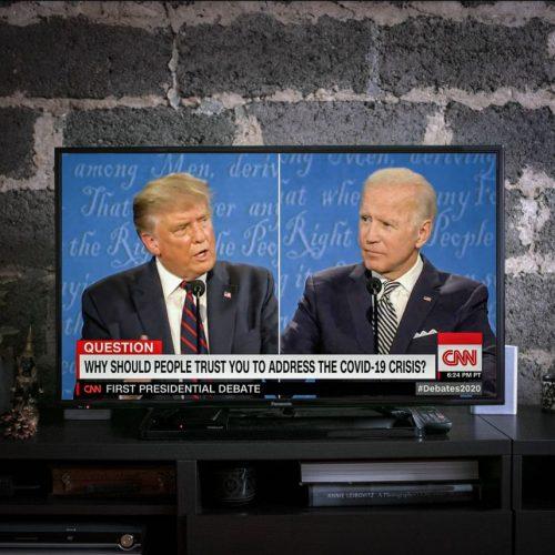 Trump und Biden im ersten TV-Duell um die Präsidentschaftswahl in den USA 2020