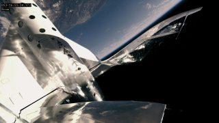 Das Raumflugzeug von Virgin_Galactic beim Testflug