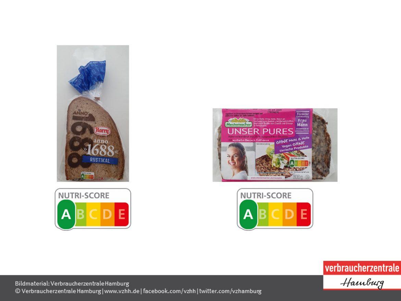 Nutri-Score von Brot