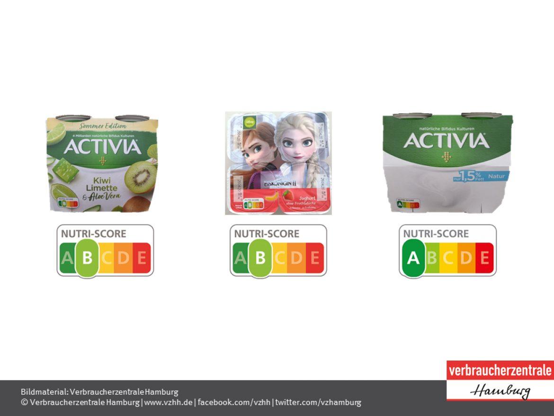 Nutri-Score von Joghurt