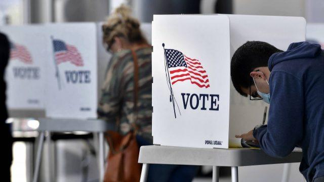 US-Wähler, die ihre Stimme abgeben
