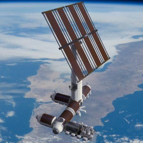 Ausgebaute Raumstation von Axiom Space