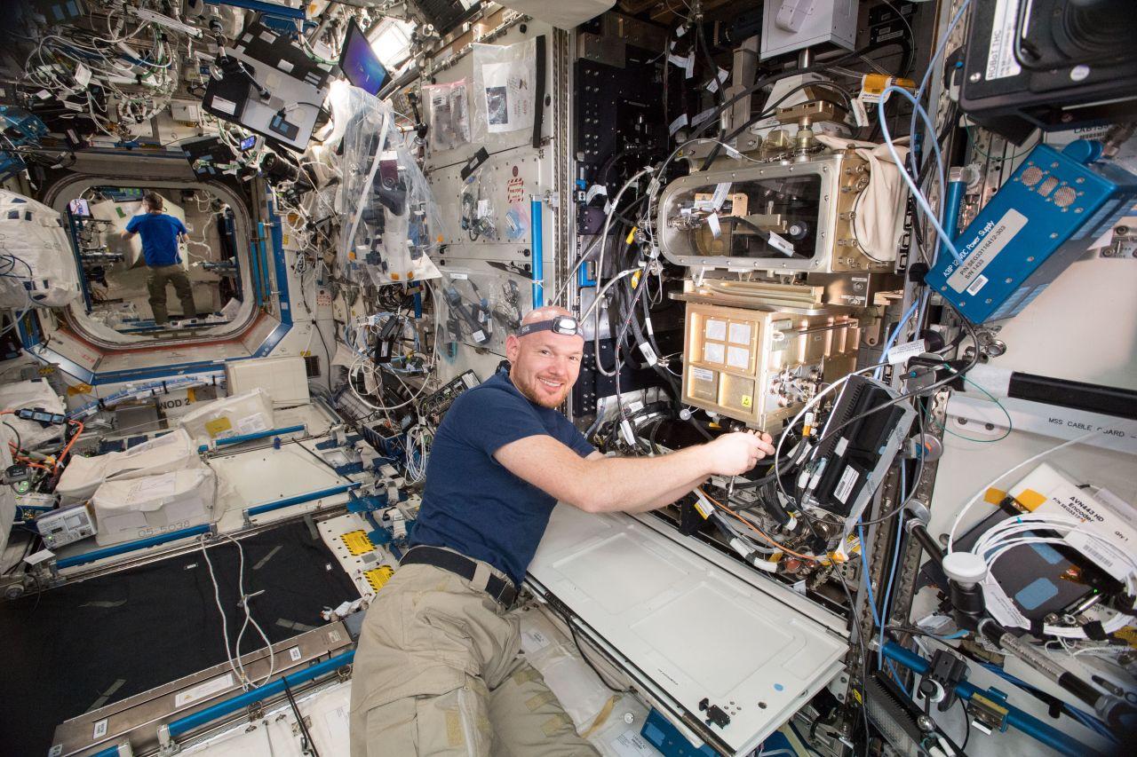 ESA-Astronaut Alexander Gerst auf der ISS
