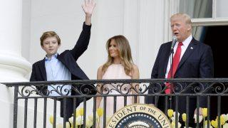 Melania und Donald Trump mit Sohn Barron