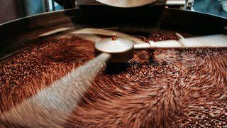 Kaffee wird geröstet