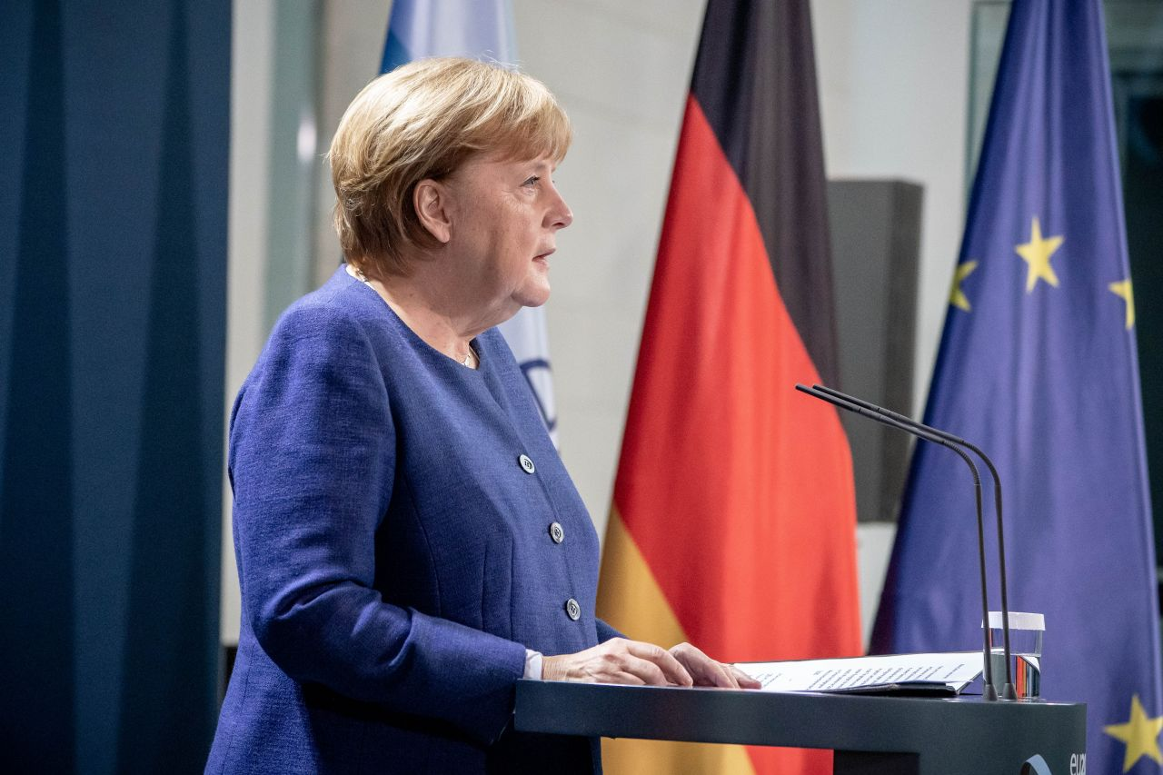 9. November 2020, Berlin: Bundeskanzlerin Angela Merkel (CDU) gibt eine Erklärung zum Ausgang der Wahl in den USA ab.
