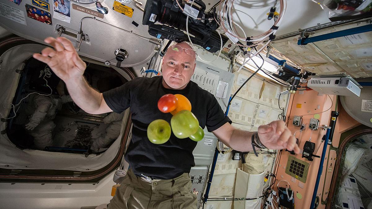 Scott Kelly auf der ISS