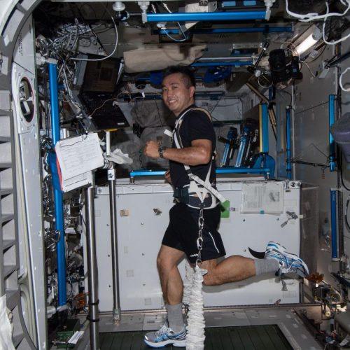 Fitnesstraining auf der ISS