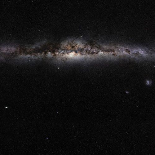 Milchstraße von der Seite