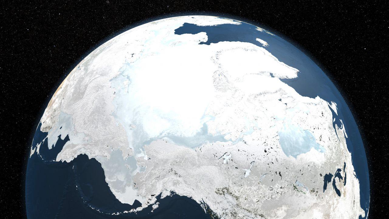 Eingefrorene Erde