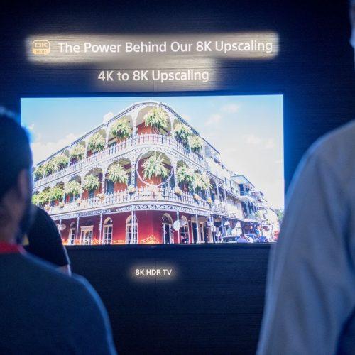 Ein Sony 8K Fernseher wird am 05.09.2019 auf der Internationalen Funkausstellung (IFA) in Berlin ausgestellt.