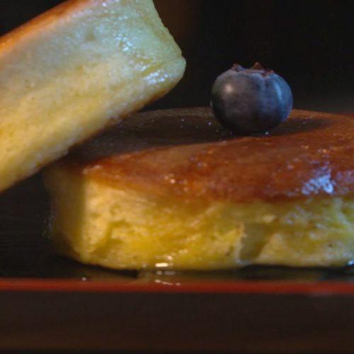 Leckere Blaubeer-Pancakes