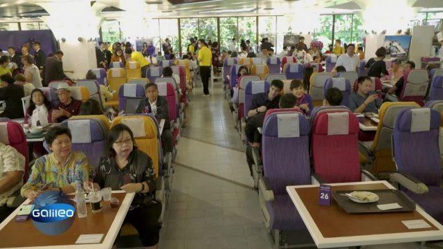 Das Flugzeug-Restaurant in Thailand